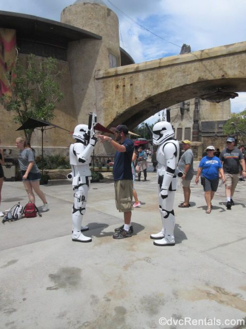 Stormtroopers roaming around Star Wars: Galaxy's Edge