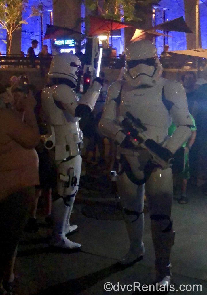Stormtroopers at Batuu