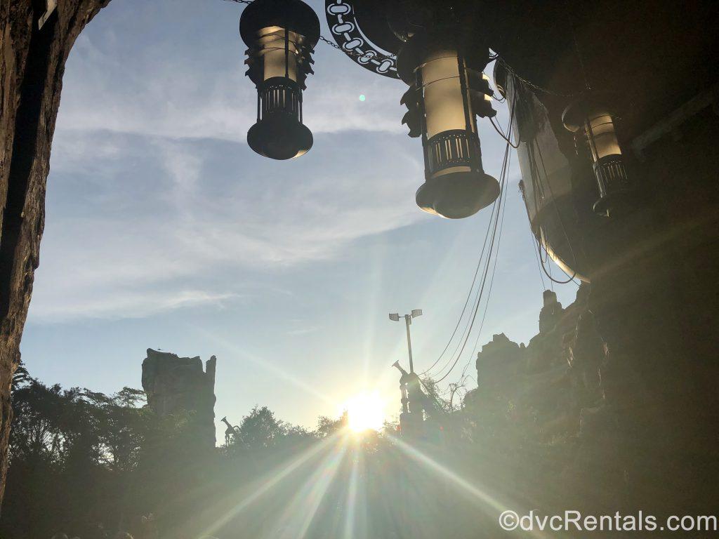 Planet Batuu in daylight