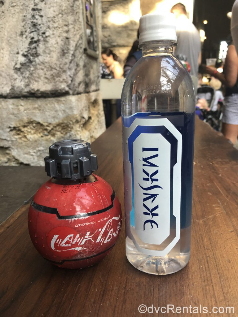 Coke and water bottles sold exclusively in Star Wars Land
