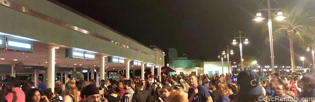 Crowds at Turnstiles for Disney Hollywood Studios