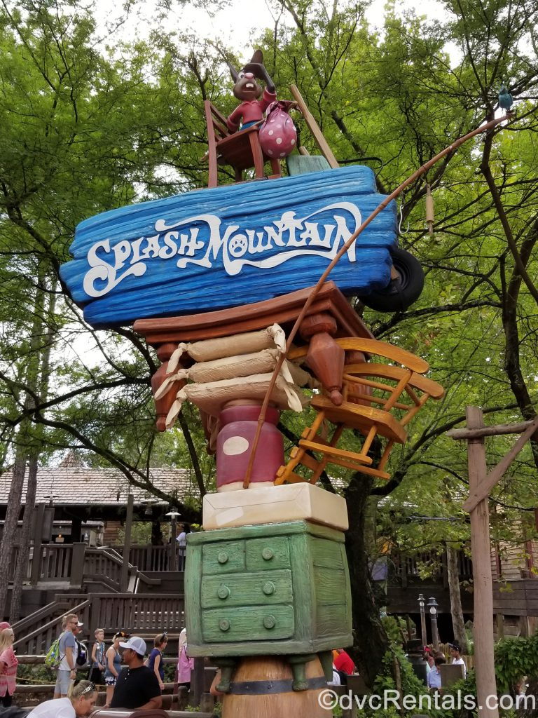 Sign for Splash Mountain