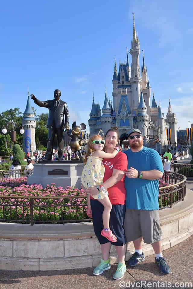 guest blogger Meg and her family at the Magic Kingdom