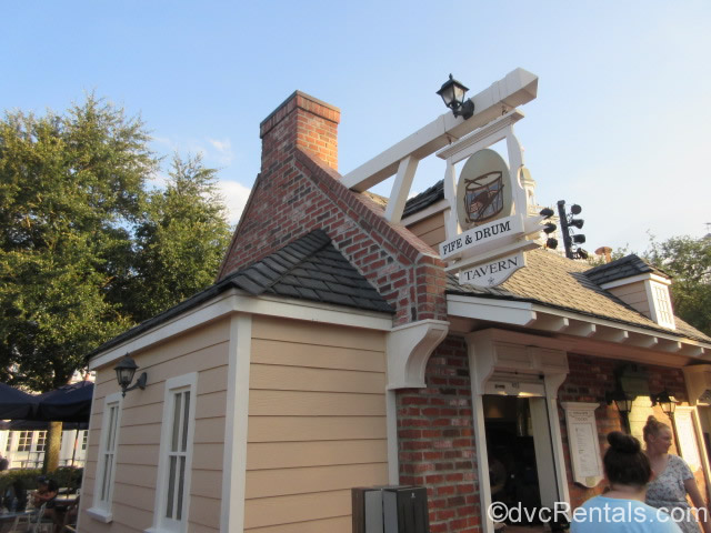 Fife and Drum booth at Epcot