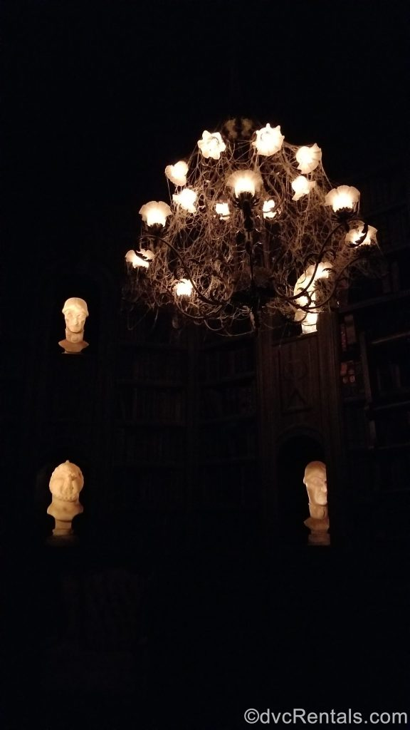 Ghost Library in the Haunted Mansion