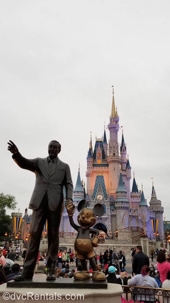 Mickey and Walt Disney's Partners statue at the Magic Kingdom