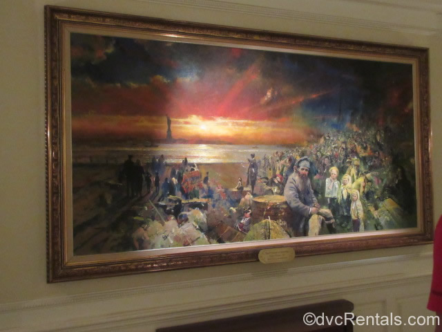 painting inside the American Pavilion at Epcot