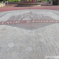 Magic Kingdom castle in bricks at the entrance to the Magic Kingdom