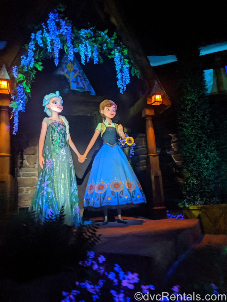 Anna and Elsa from Frozen Ever After
