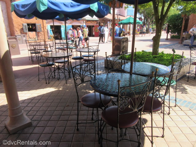 outdoor seating area at Tangerine Café