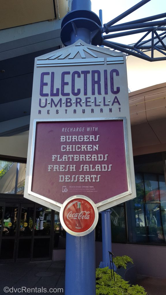 Electric Umbrella menu