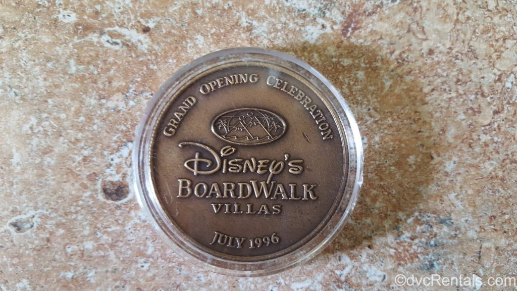 Disney's Boardwalk Villas Grand Opening Coin