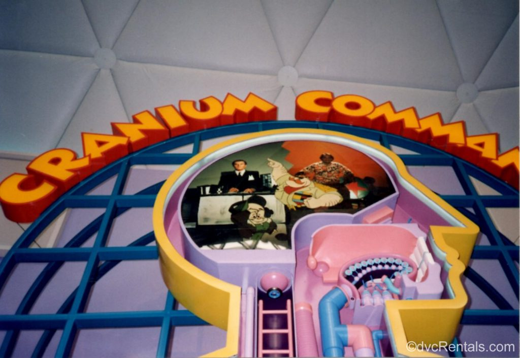 Cranium Command Sign from inside the attraction