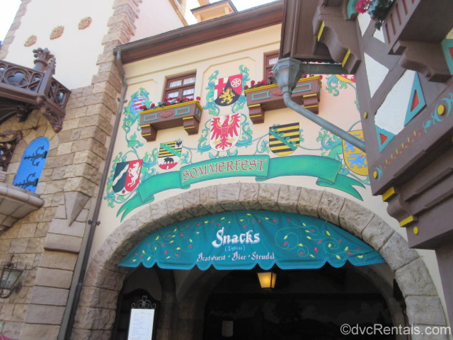 Sommerfest sign at Disney's Germany pavilion