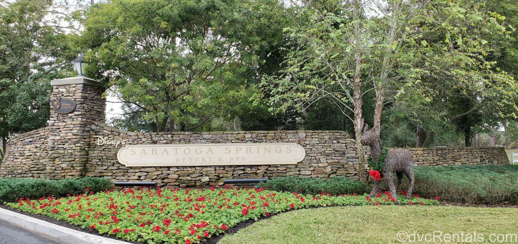 Sign for Disney's Saratoga Springs Resort & Spa