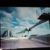 monorail track being constructed at Walt Disney World