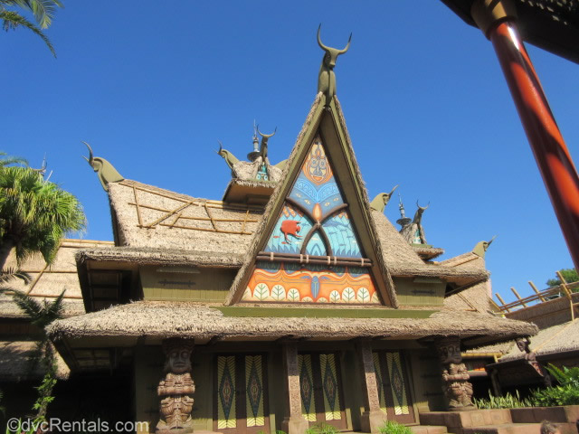 exterior image of the Tiki Room at Disney's Magic Kingdom