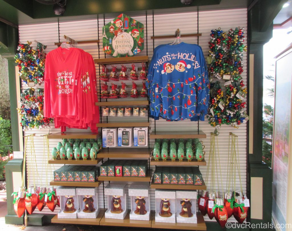 Epcot International Festival of the Holidays merchandise