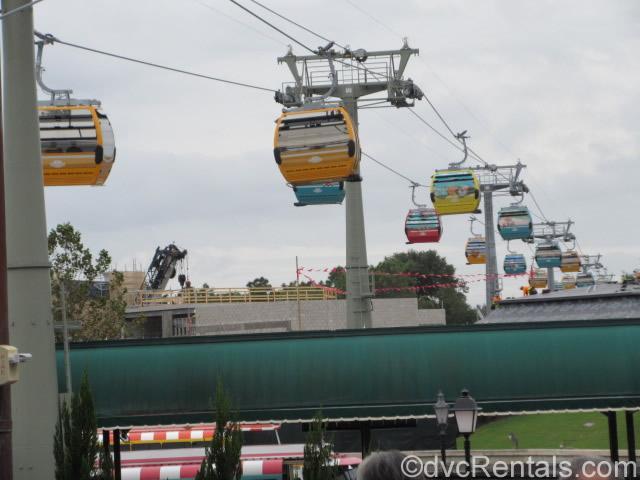 Gondola's near the Epcot station
