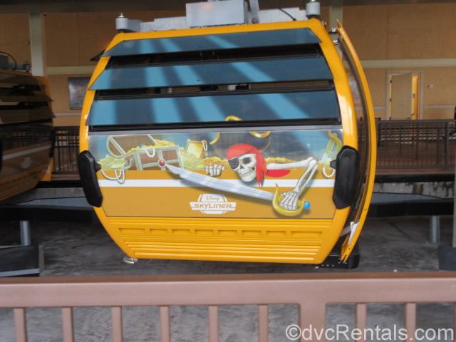 Pirates of the Caribbean themed Skyliner gondola