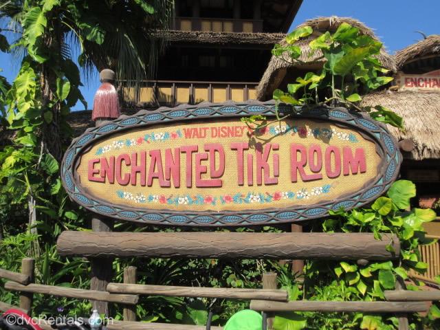 The Enchanted Tiki Room Sign at the Magic Kingdom