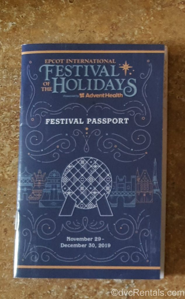 Passport for the Epcot International Festival of the Holidays