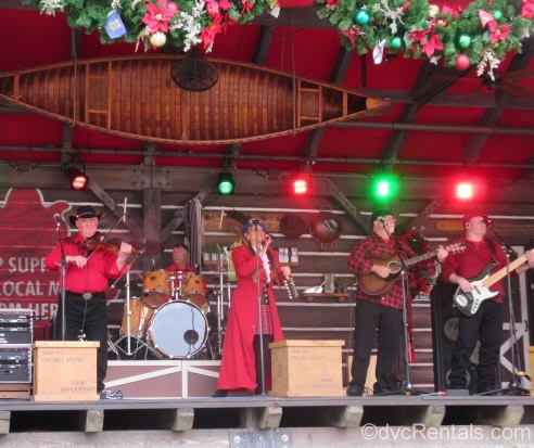 Performers at the Epcot International Festival of the Holidays