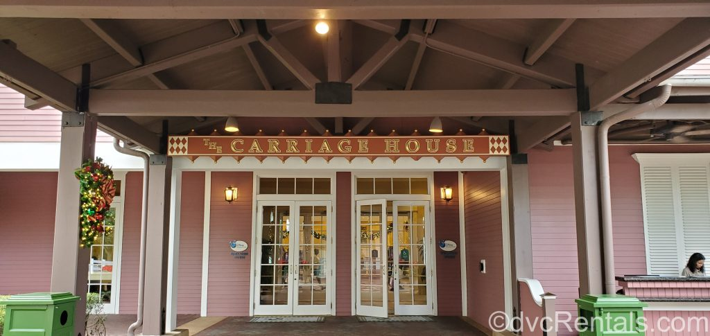 Entrance to the Carriage House at Disney's Saratoga Springs Resort & Spa