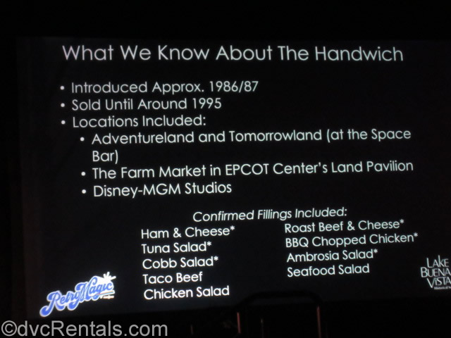 Handwich Information Sheet