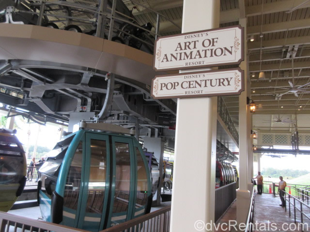 Skyliner station at Art of Animation and Pop Century