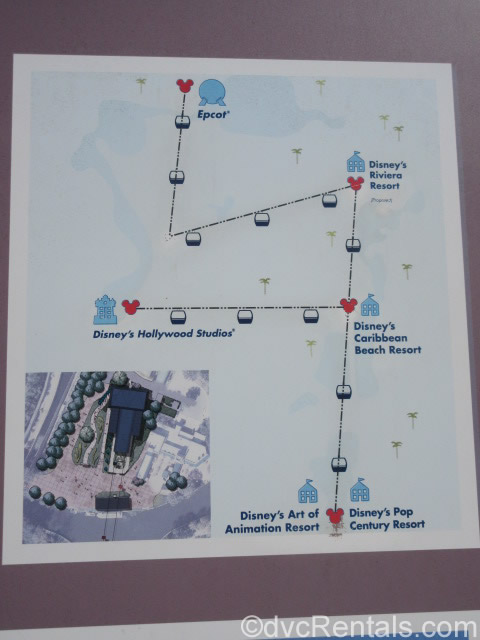 Map of Skyliner routes