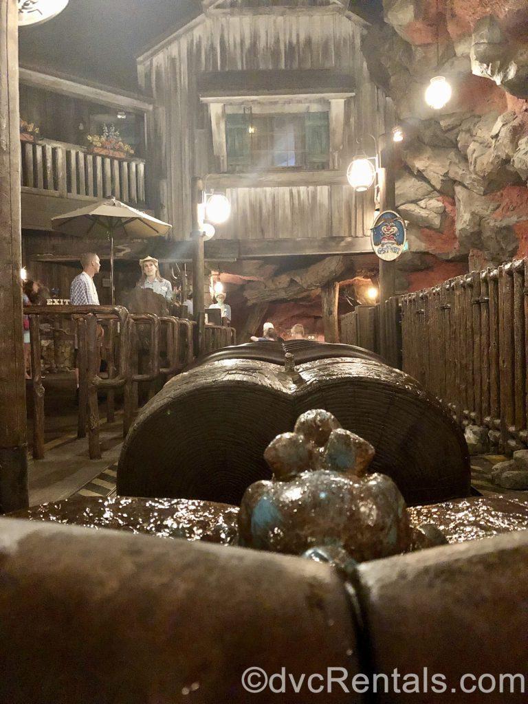 Splash Mountain empty boat at Disney's Magic Kingdom