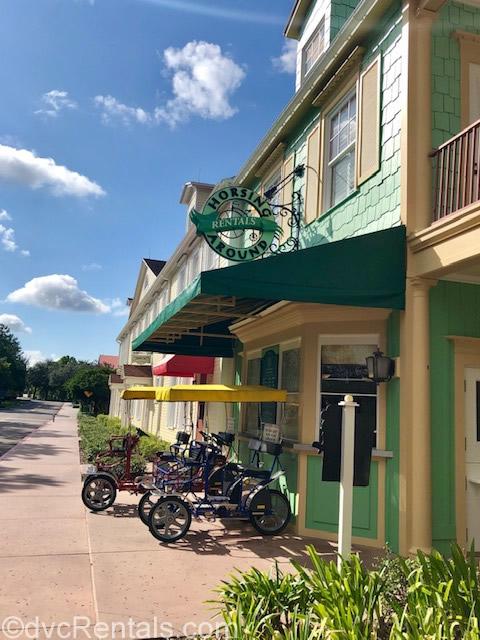 Bike Rentals area at Disney's Saratoga Springs Resort & Spa