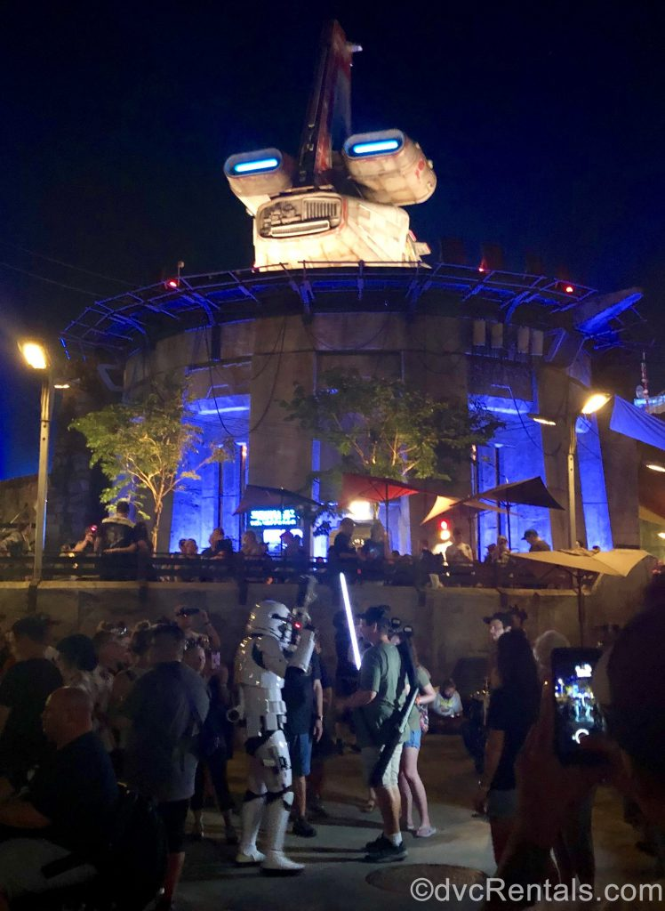 Guests interacting with Stormtroopers at Disney's Hollywood Studios
