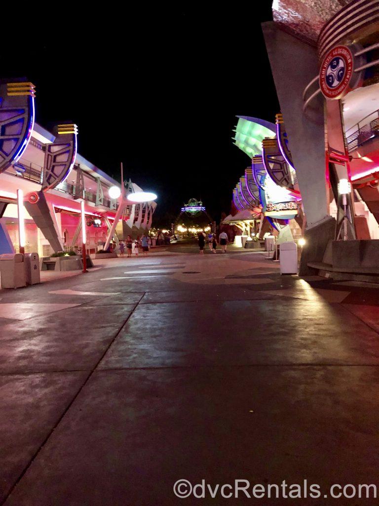 Path from Tomorrowland to the Hub at Disney's Magic Kingdom
