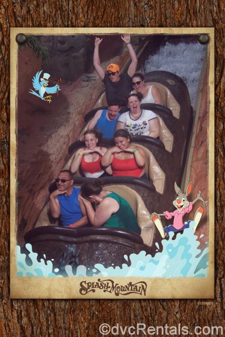 Team Member Alyssa and her family on Splash Mountain