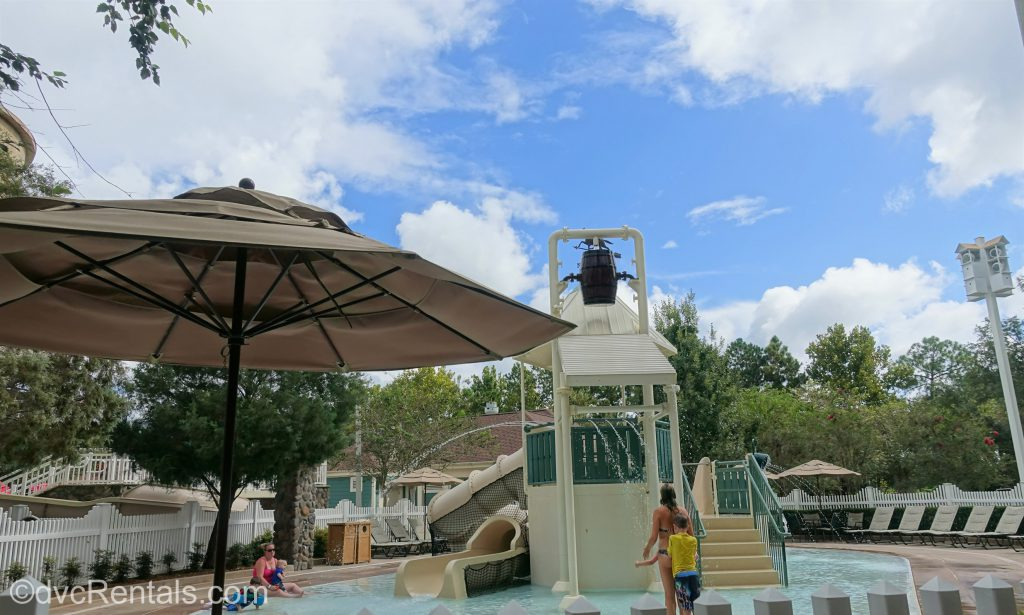 Grandstand area splashpad at Disney's Saratoga Springs Resort & Spa