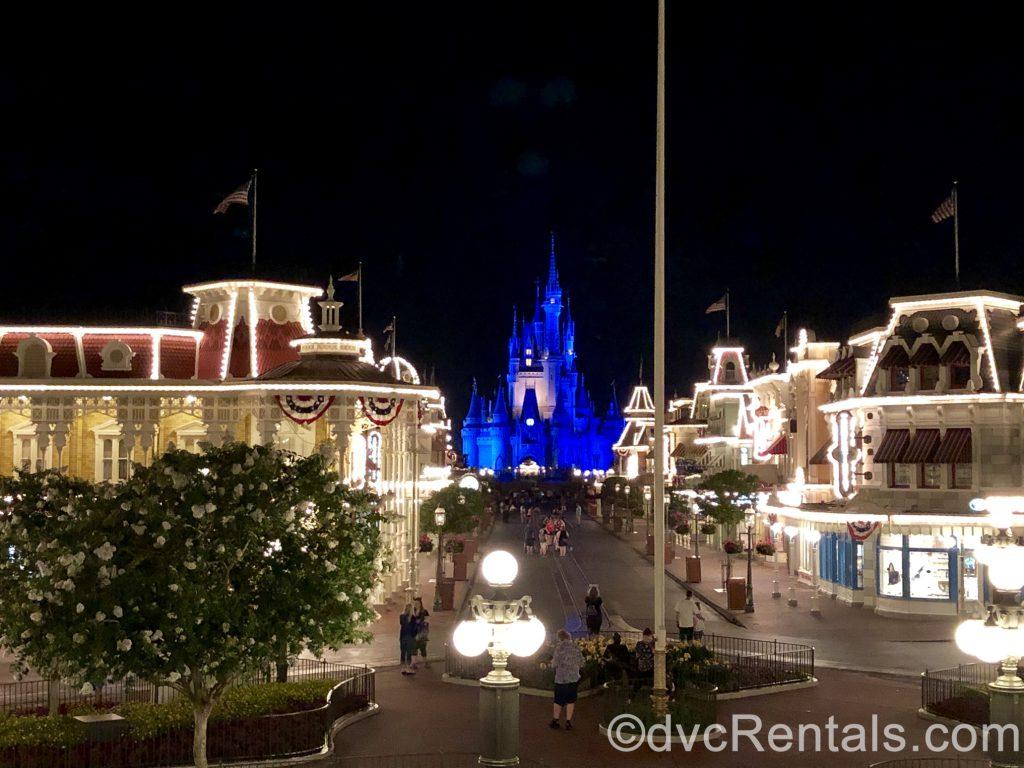 Cinderella Castle and Mainstreet USA at Disney's Magic Kingdom
