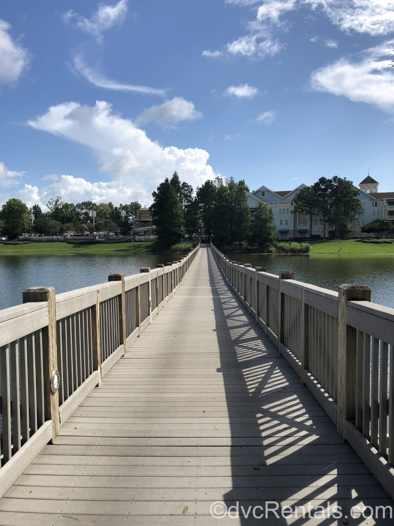 Bridge that connects the Paddock area to the Springs area at Disney's Saratoga Springs Resort & Spa