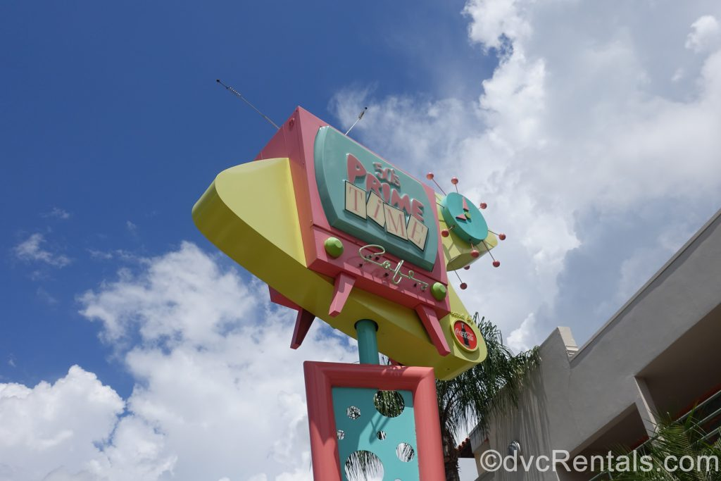50s Prime Time Café sign at Disney's Hollywood Studios