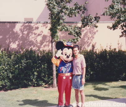 Team Member Alyssa's Dad with Mickey Mouse