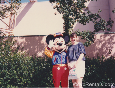 Team Member Alyssa's Mom with Mickey Mouse