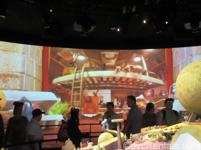 Overview image of the Ratatouille ride at Epcot