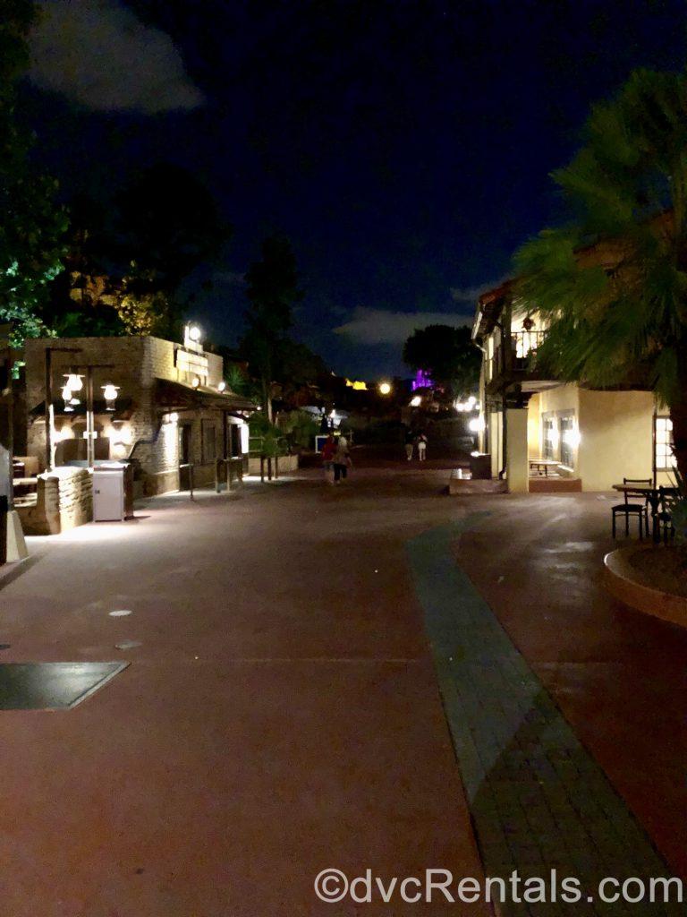 empty walkway at Disney's Magic Kingdom