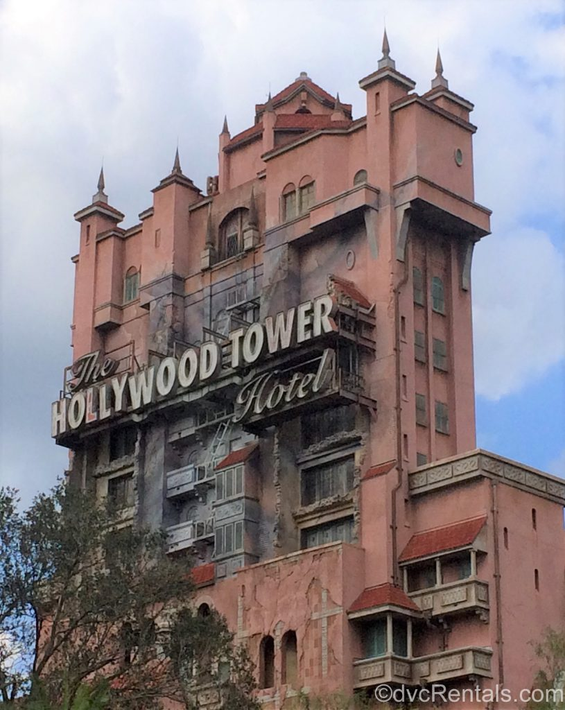 Exterior picture of the Tower of Terror