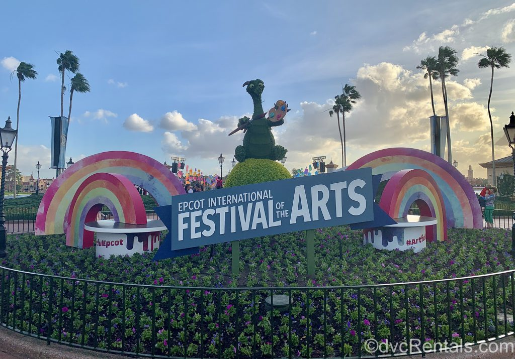 Festival of the Art's signage in Epcot
