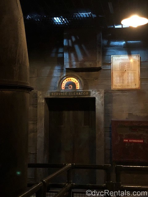 Service elevator entrance to the Tower of Terror