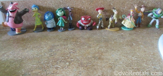 collection of Toy Story and Inside Out figurines