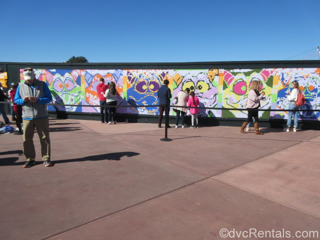 Paint by number mural as part of the Epcot International Festival of the Arts