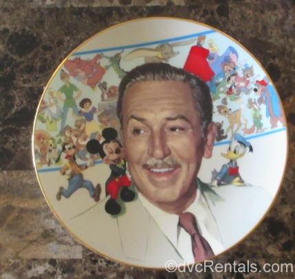 Walt Disney commemorative plate